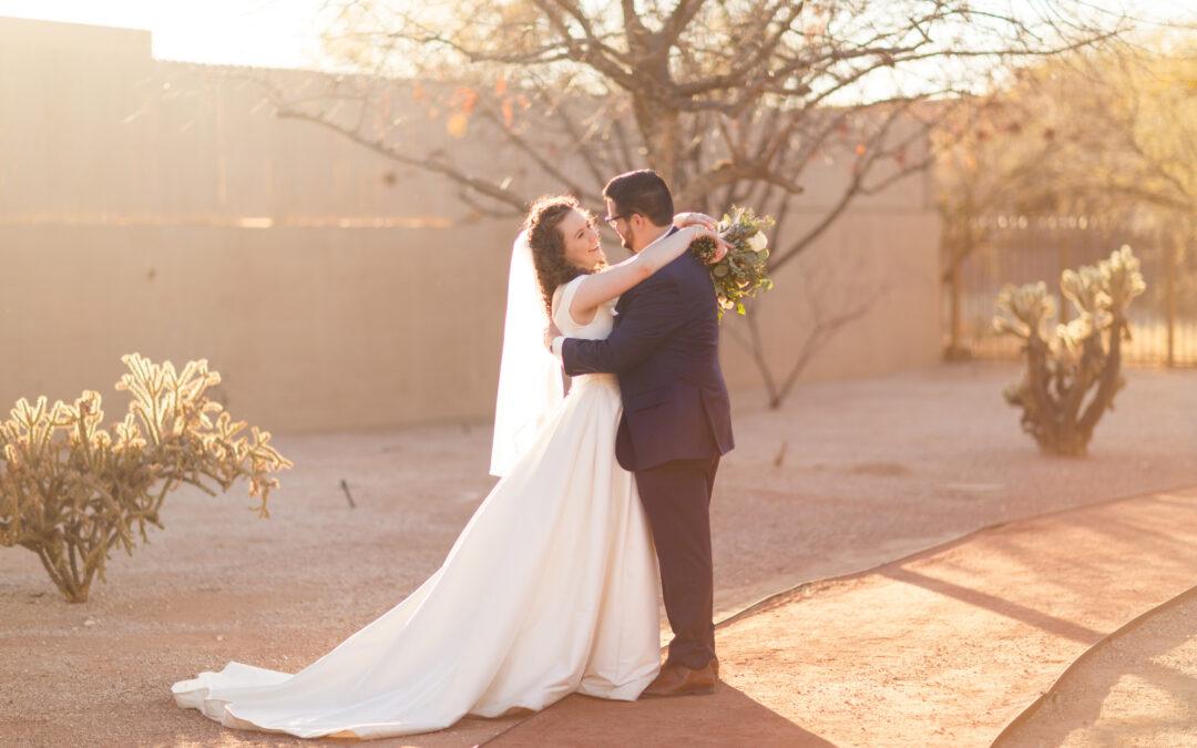 Hannah and Ben's Backyard Micro Wedding in Tucson