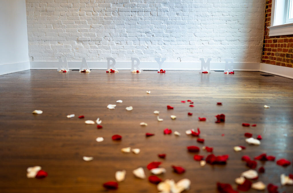 Aaron and Rosie's Fun and Unique Proposal at Fathom Gallery